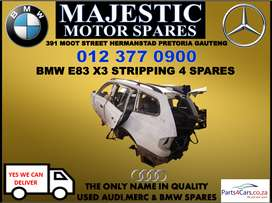 Bmw X3 E83 stripping for used spares