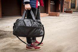 Сумка мужская кожаная mod.RollingStone черная дорожная сумка рюкзак