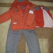 Зимний комбинезон: куртка, жалет и брюки возраст 5-6 лет