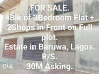 Amazing 4Block of 3Bedroom Flat + 2 Shops For Sale. 0