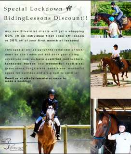 Special Lockdown riding lessons discount!