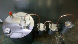 Дистиллятор мідний два сухопарніка,Дистилятор