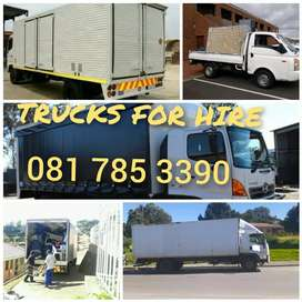 OPEN AND CLOSED TRUCKS FOR HIRE
