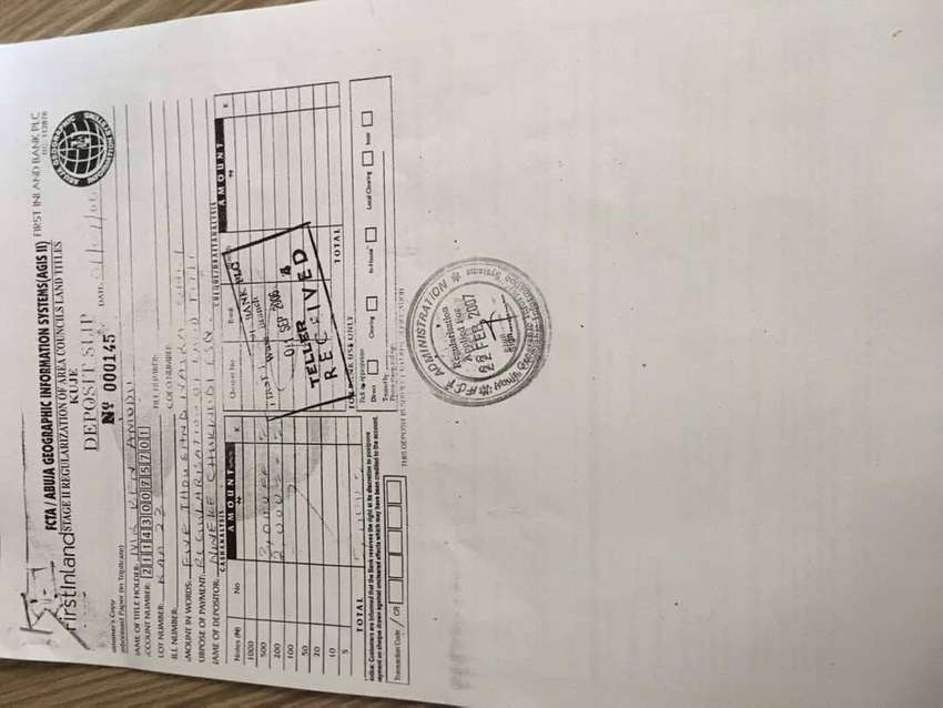 2250 sqr meter plot of land in AA3 kuje area council 0