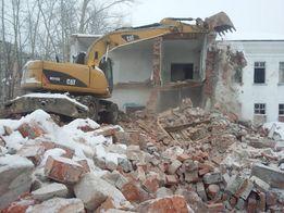 Демонтаж старых домов деревянных и кирпичных