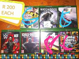 Xbox 1  games for sale bargain