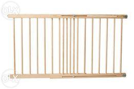 BRAMKA DREWNIANA na schody nowa zabiezpieczająca regulowana barierka