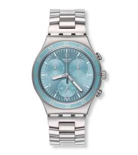 Swatch irony chrono clear water men's watch