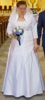 Piękna suknia ślubna rozmiar 44 na 165 cm wzrostu