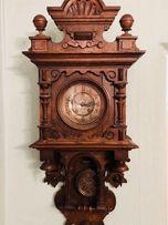 ... Zegar Ścienny (typ paryski) ... ponad 100lat! drewno!