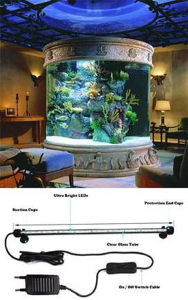 LED Submersible Tube Lamp for Aquariums, Fish Tanks etc 220V 750mm NEW