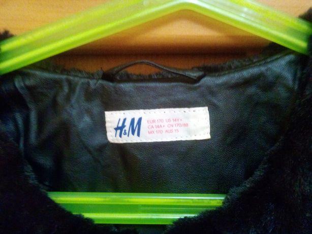 Фирменная шуба для девочки H&M Новая Каховка - изображение 3