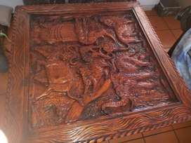 Big five hand made wooden table