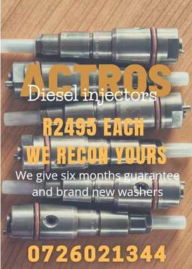 ACTROS diesel injectors - reconditioning services