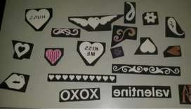 Rubber craft stamps