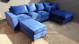 L shaped with Ottoman for sale