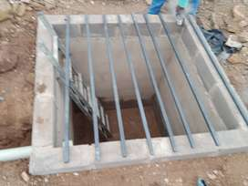 Septic tank for inside and outside toilets