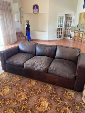 Quality 3 Seater Leather Couch For Sale