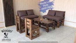 Диваны для кафе Loft из поддонов барные стойки, стулья , кровати,столы