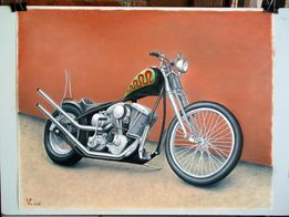 Картина маслом, Harley Old School Chopper Bobber