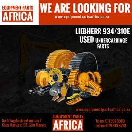 We are looking for Liebherr 934 or 310E used  undercarriage parts