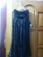Чёрное платье с паетками новое