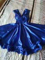 Атласна випускна(святкова) сукня