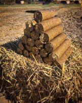 Паливні (топливные) брикети(брикеты) дрова з соломи Nestro