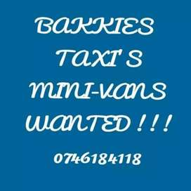 Vehicles needed
