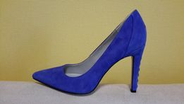 Туфли женские замшевые на шпильке Calvin Klein синие