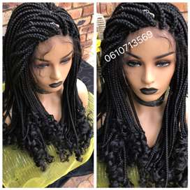 Beautiful lace front curly da braids wig