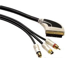 кабель Hama Scart -2 Cinch 1 S-Video gold connection 2.0 метра