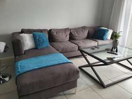 Grey L Shape Couch for Sale