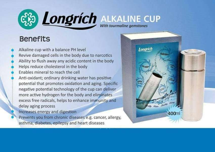 Longrich Alkaline Pi Cup(Naturally WASHES OUT TOXINS)