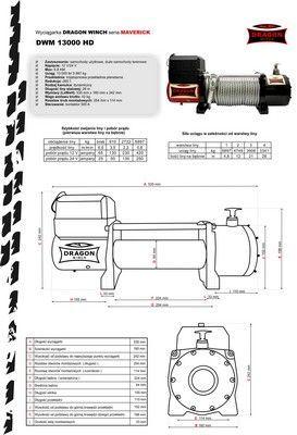 Wyciągarka, wciągarka samochodowa Dragon Winch DWM 13000 ST 12V 6/12T Dobra - image 4