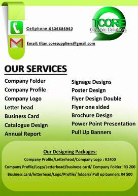 Graphic designing and Advertising