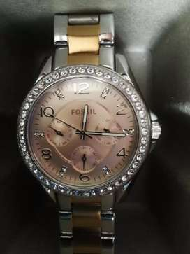 Rose gold Fossil