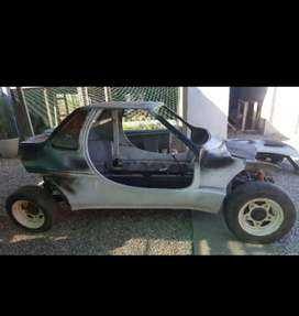 Vw beetle rolling chassis with fiberglass body.