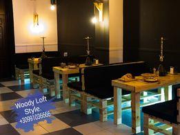 Лофт Мебель из поддонов loft столы,диваны из металла для кафе ,кресло