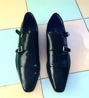 Туфли ботинки кожаные брендовые черные большой размер