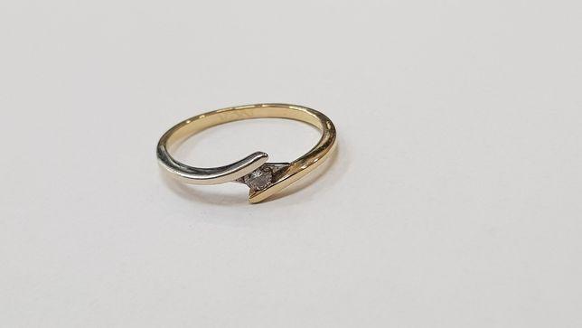 Apart! Przepiękny pierścionek + brylant 0.04 CT/ 585/ 1.39g/ R10 Gdynia - image 3