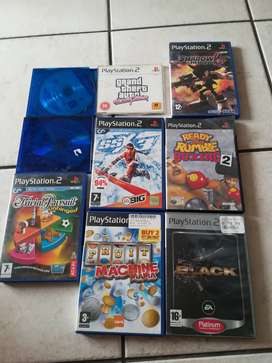 Playstation 2 with 2 x controllers, 15 games and memory card