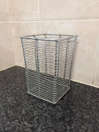 Image of 2 stainless steel cutlery holder