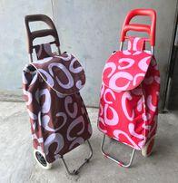 Тележка/сумка/кравчучка/тачка хозяйственная на колесиках тканевая 96см