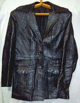 Кожаная женская куртка-пиджак р.44-46