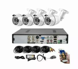 AHD 4 channel cctv system