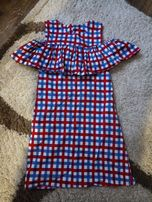 Платье в клеточку