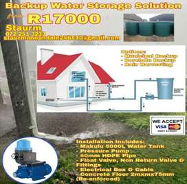 Water Storage Tank installation packages