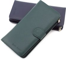 Женский кошелек зеленого цвета с отделением на молнии Marco Coverna