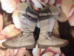 Продам кожаные зимние сапожки, ботинки для девочки. Размер 36